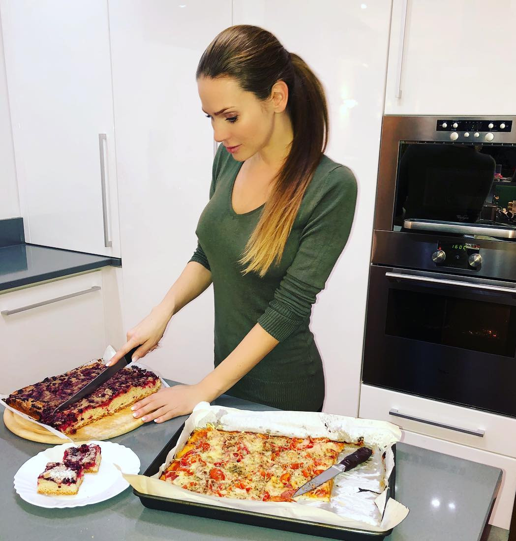Andrea Verešová v kuchyni