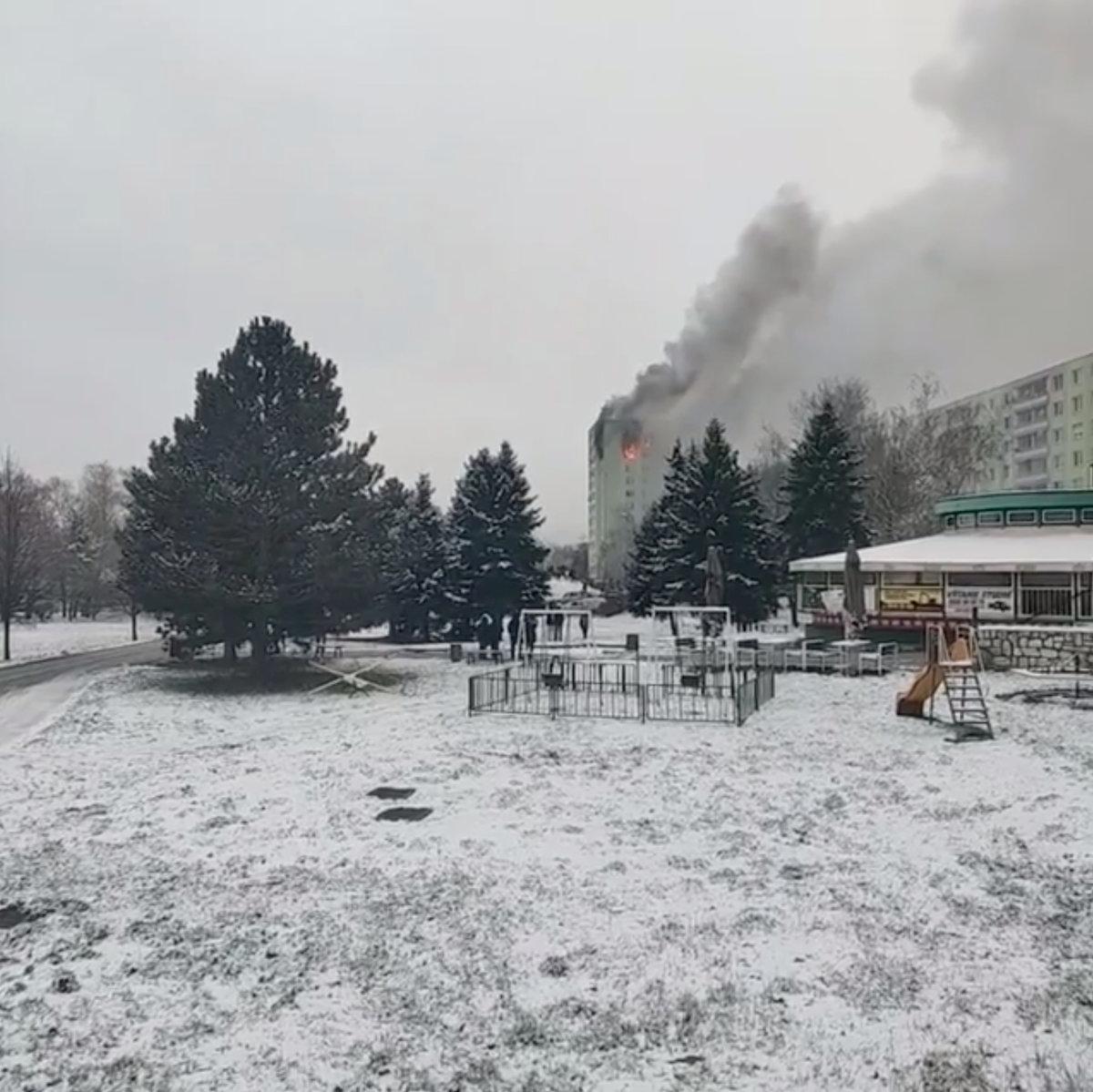 Výbuch plynu v paneláku