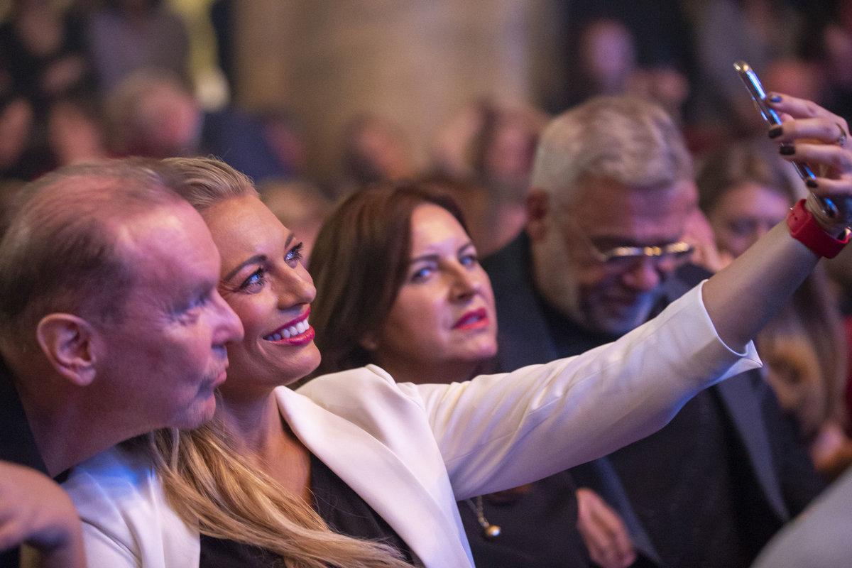 Koncert Hany Zagorové v Lucerně: Moderátorka si s Margitou udělala selfíčko