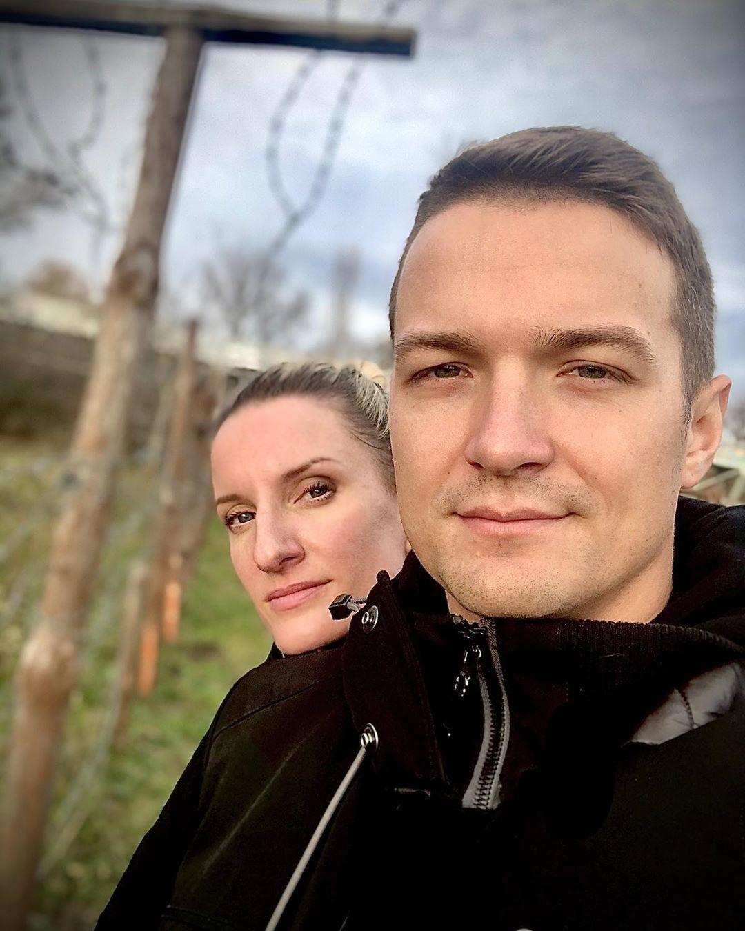 Viktor Vincze se svou manželkou Adelou
