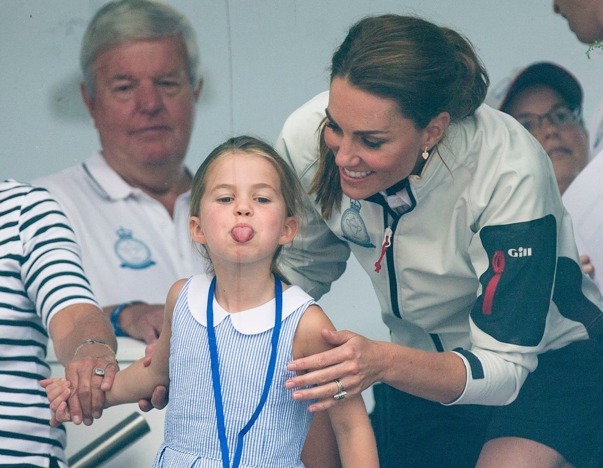Kate, William a Charlotte
