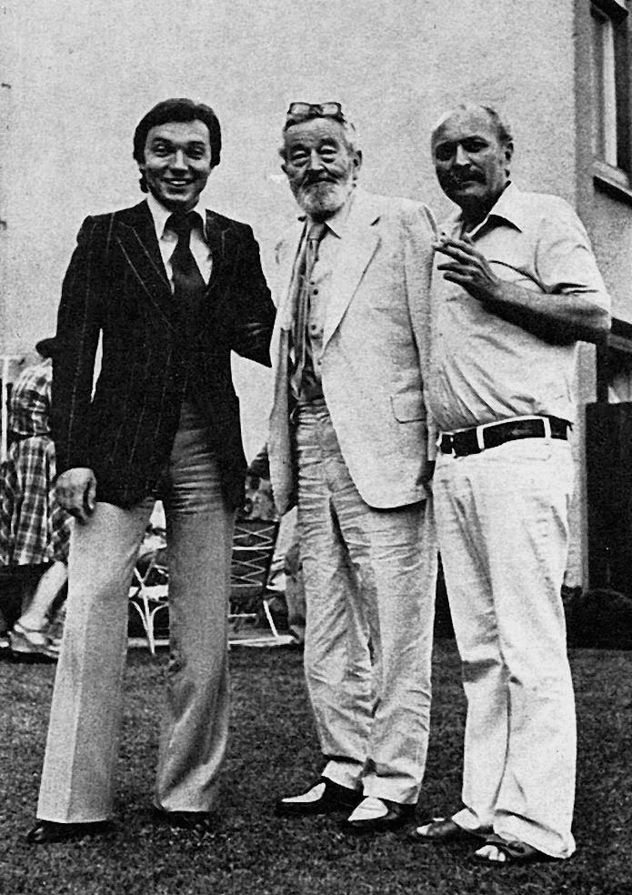 Karel Gott s Janem Werichem a režisérem Jánem Roháčem.