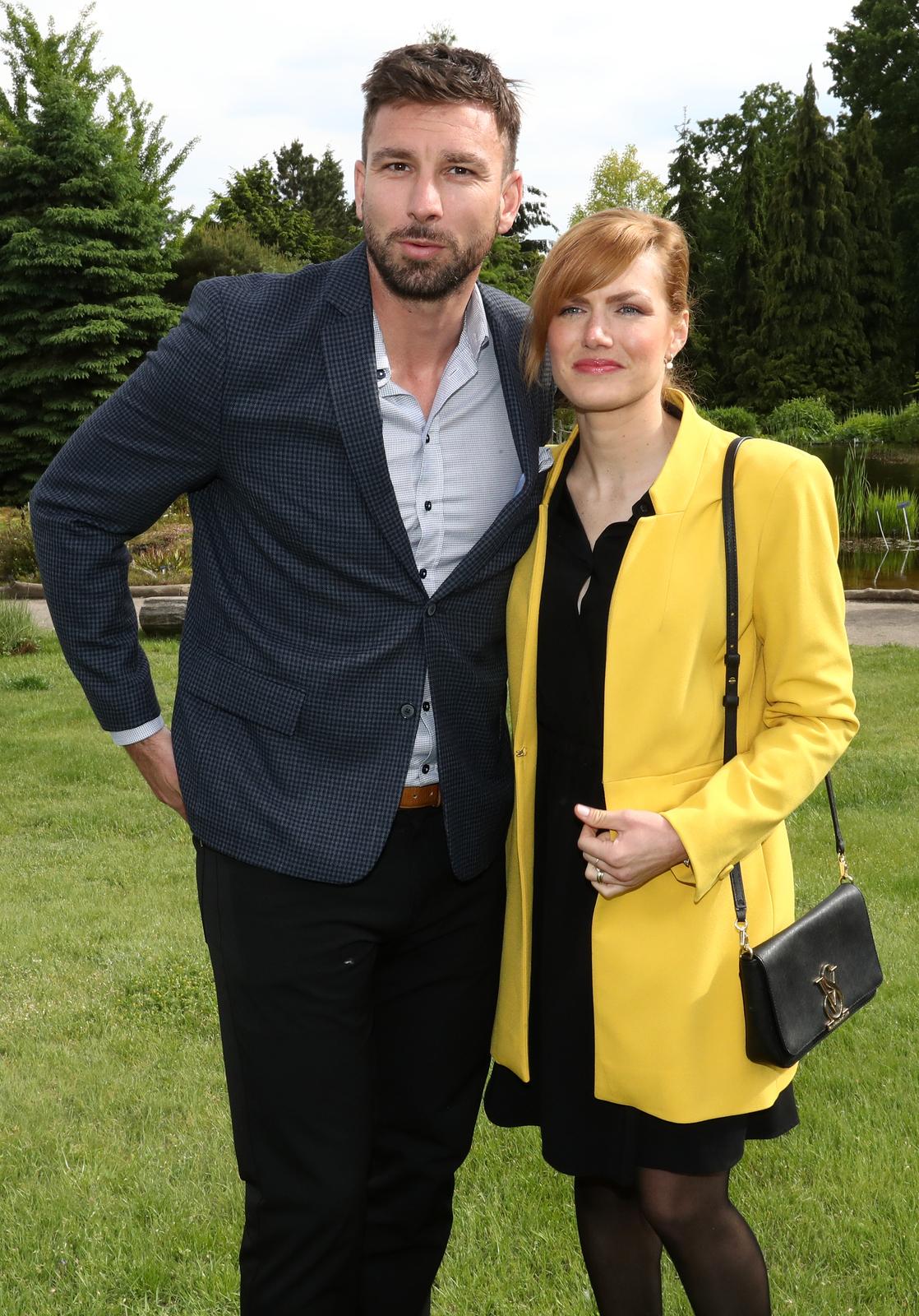 Gabriela Koukalová s manželem