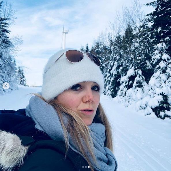 Lucie Vondráčková na horách.
