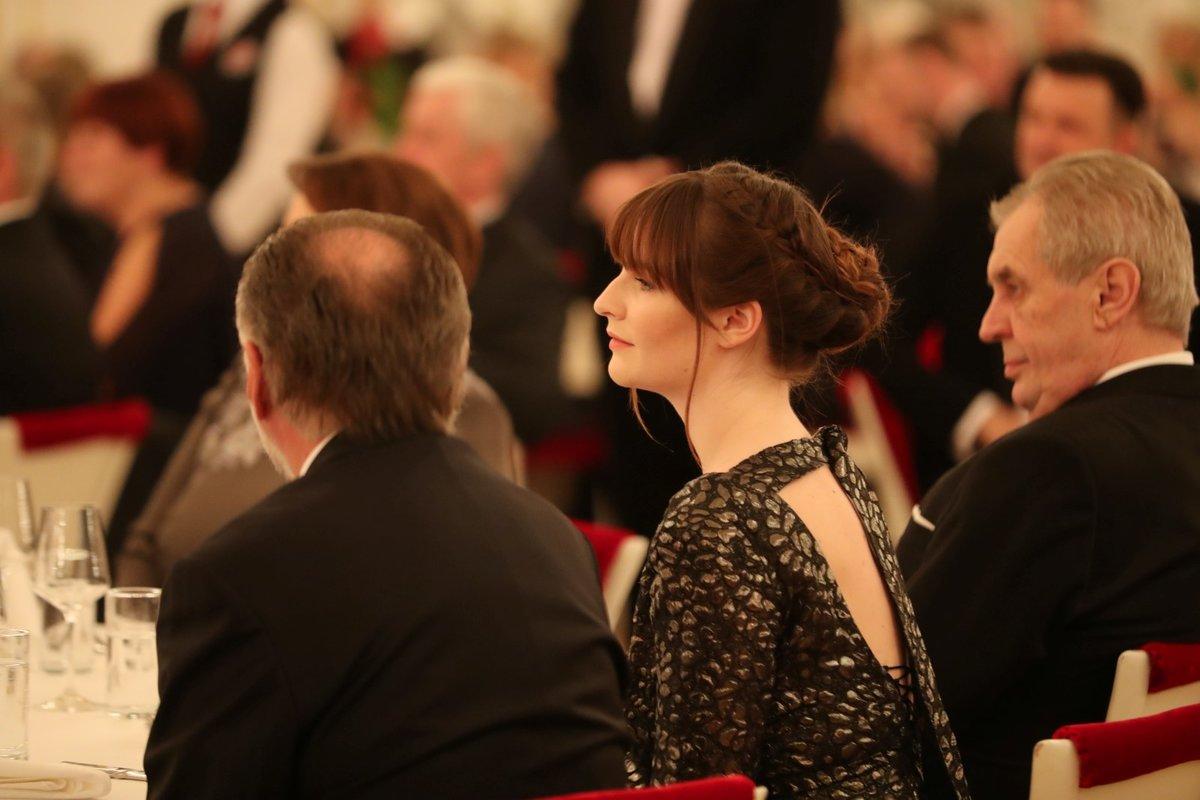 Miloš Zeman a Kateřina Zemanová na pátém charitativním plese prezidenta republiky (10.1.2020)