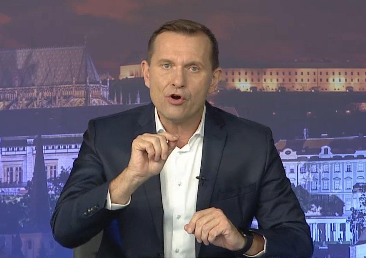 Šéf Barrandova a moderátor Jaromír Soukup v jednom ze svých pořadů