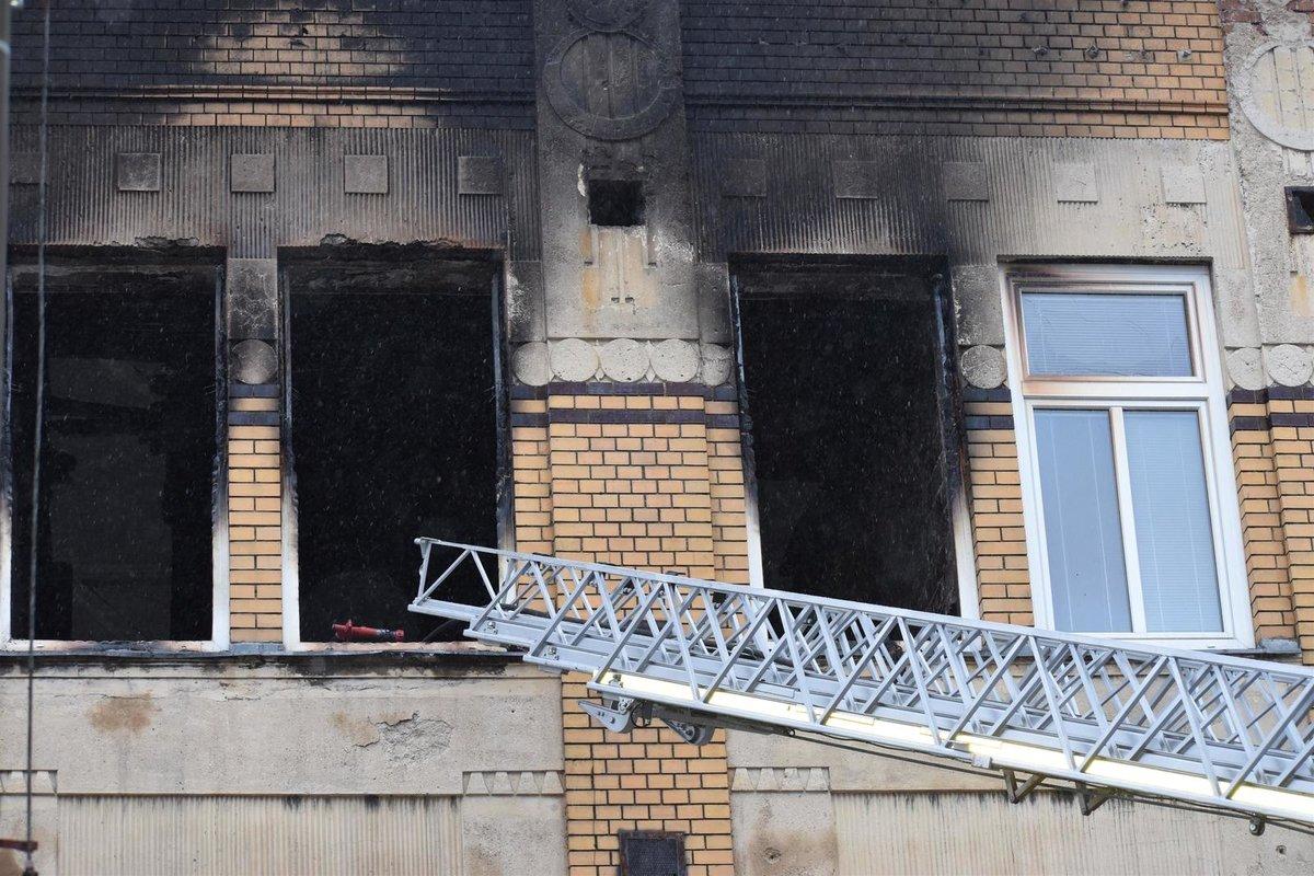 Požár domova pro postižené ve Vejprtech