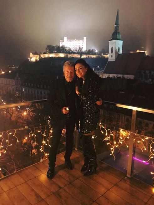 Sisa Sklovská s manželem.
