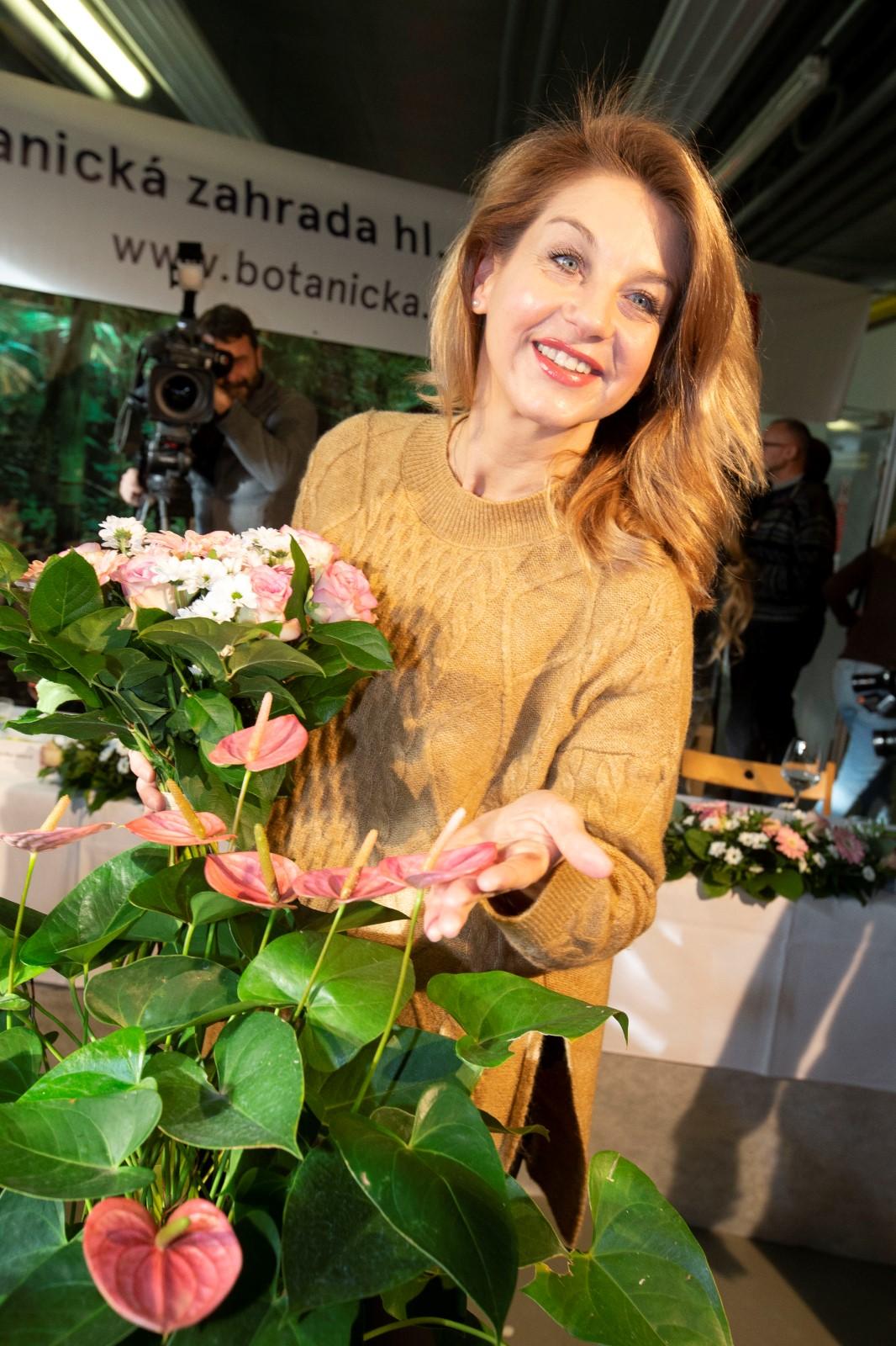 Sabina Laurinová v Botanické zahradě