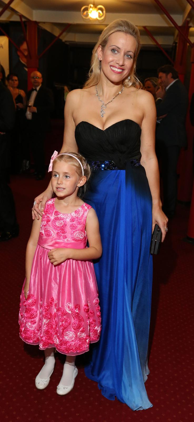 Tereza Mátlová s dcerkou
