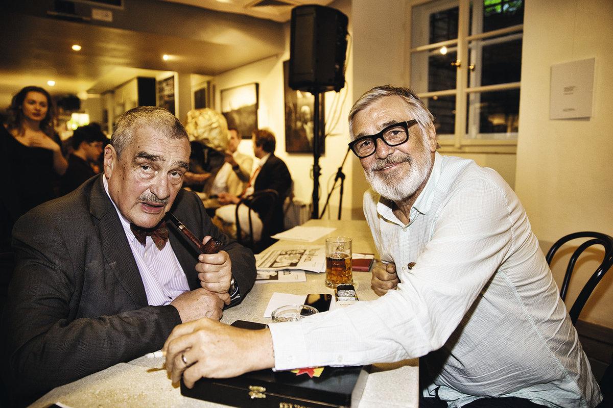 Jiří Bartoška a Karel Schwarzenberg