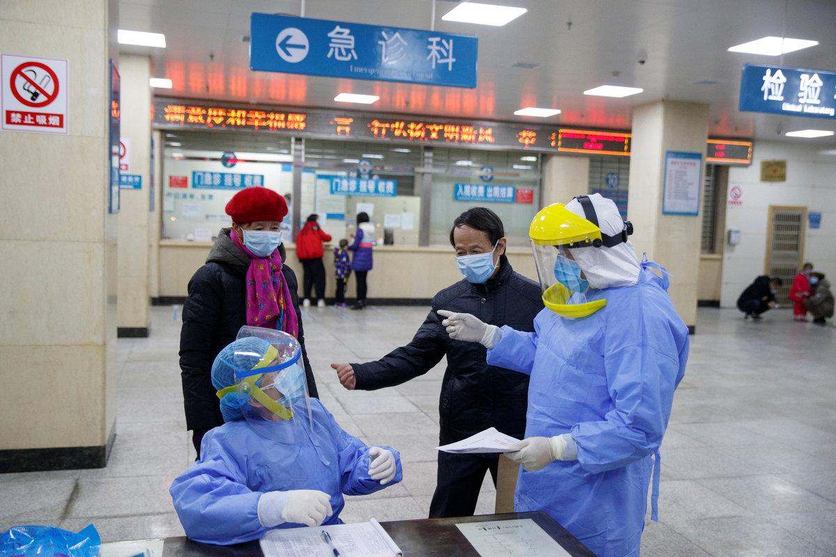 Kontrola tělesné teploty kvůli šíření koronaviru v Číně (28.1.2020)