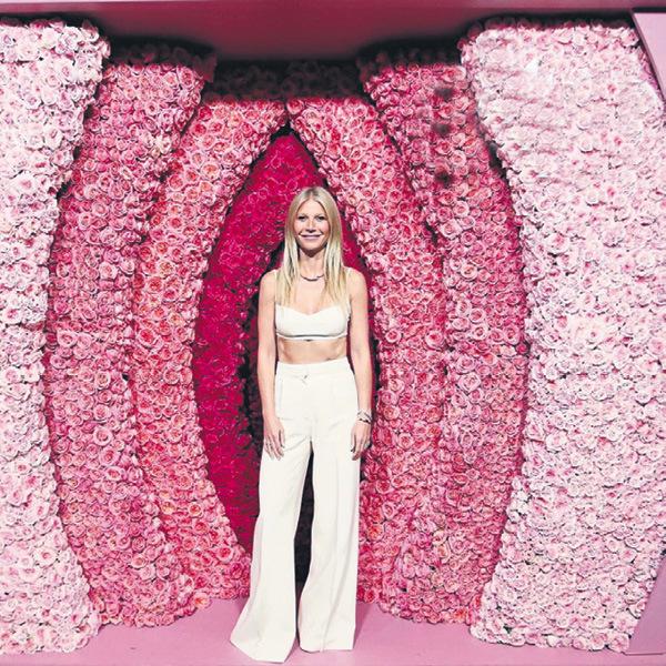 Ano, Gwyneth opravdu pózuje s obří vaginou.