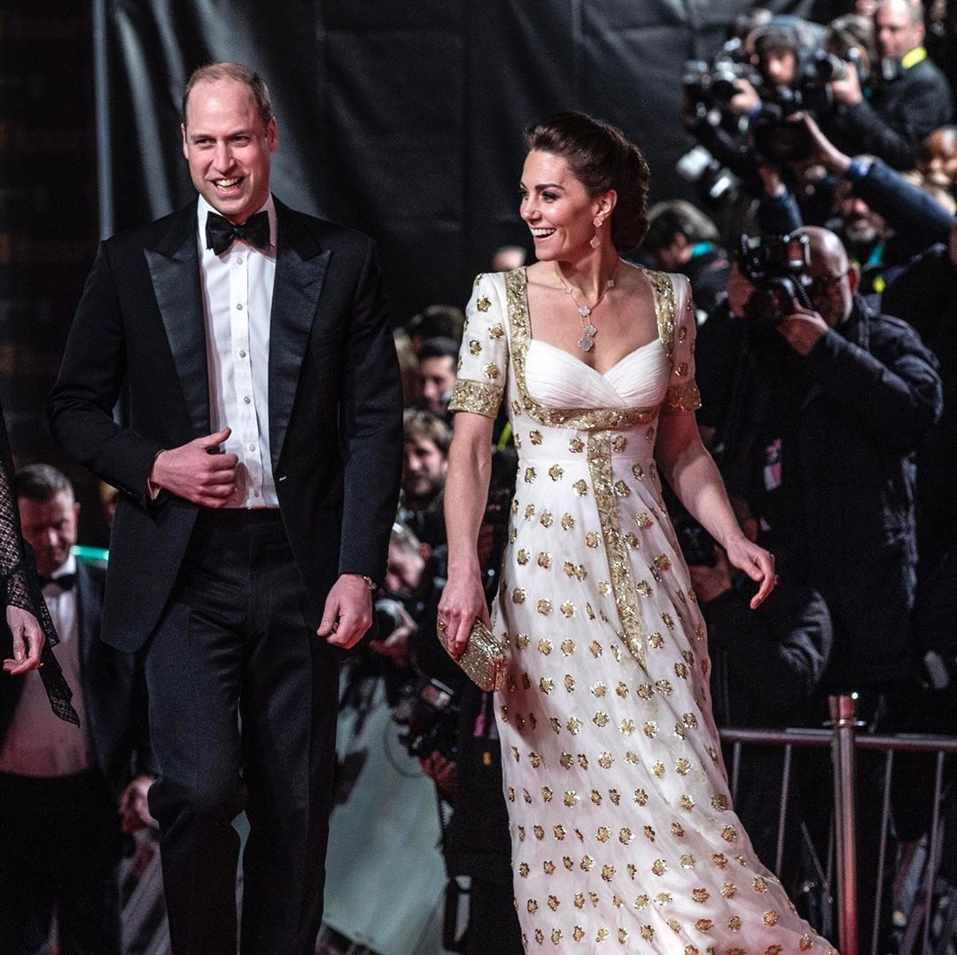 Kate Middleton a princ William na cenách BAFTA