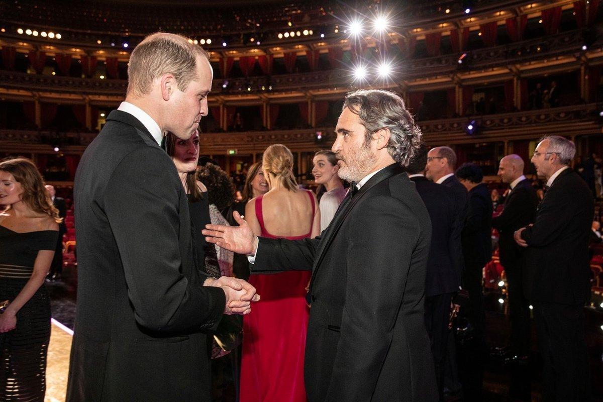 Princ William na cenách BAFTA