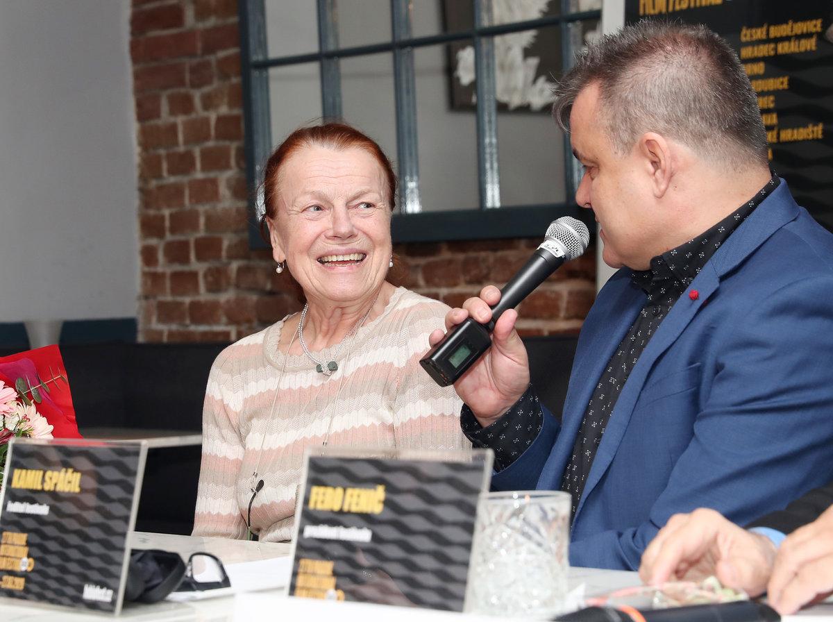 Iva Janžurová na tiskové konferenci Febiofestu