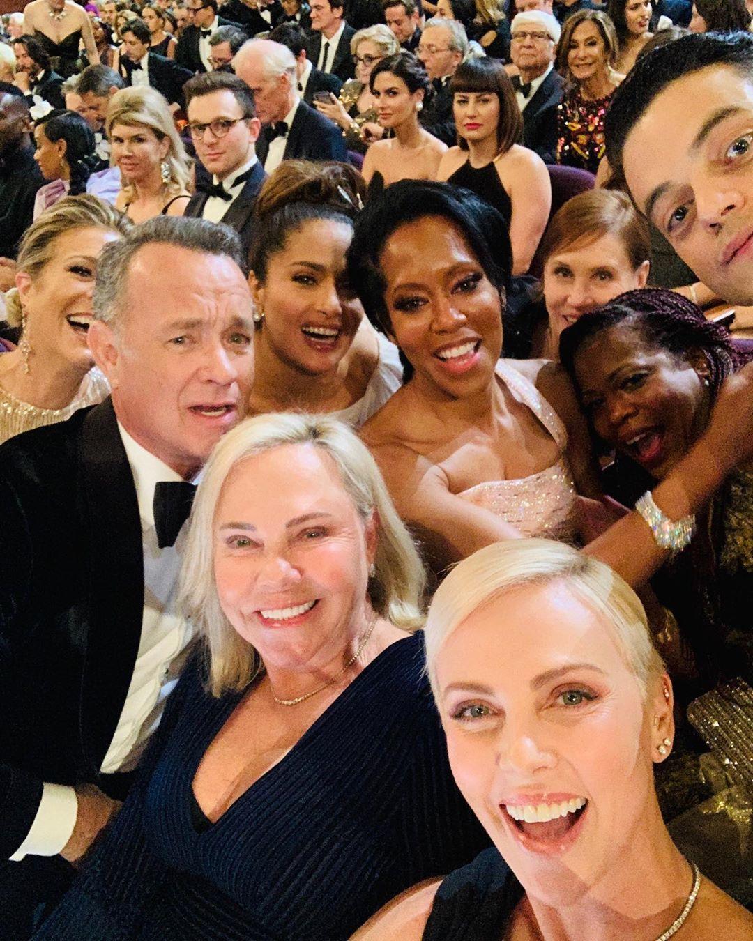 Hollywoodské hvězdy na oskarovém selfíčku