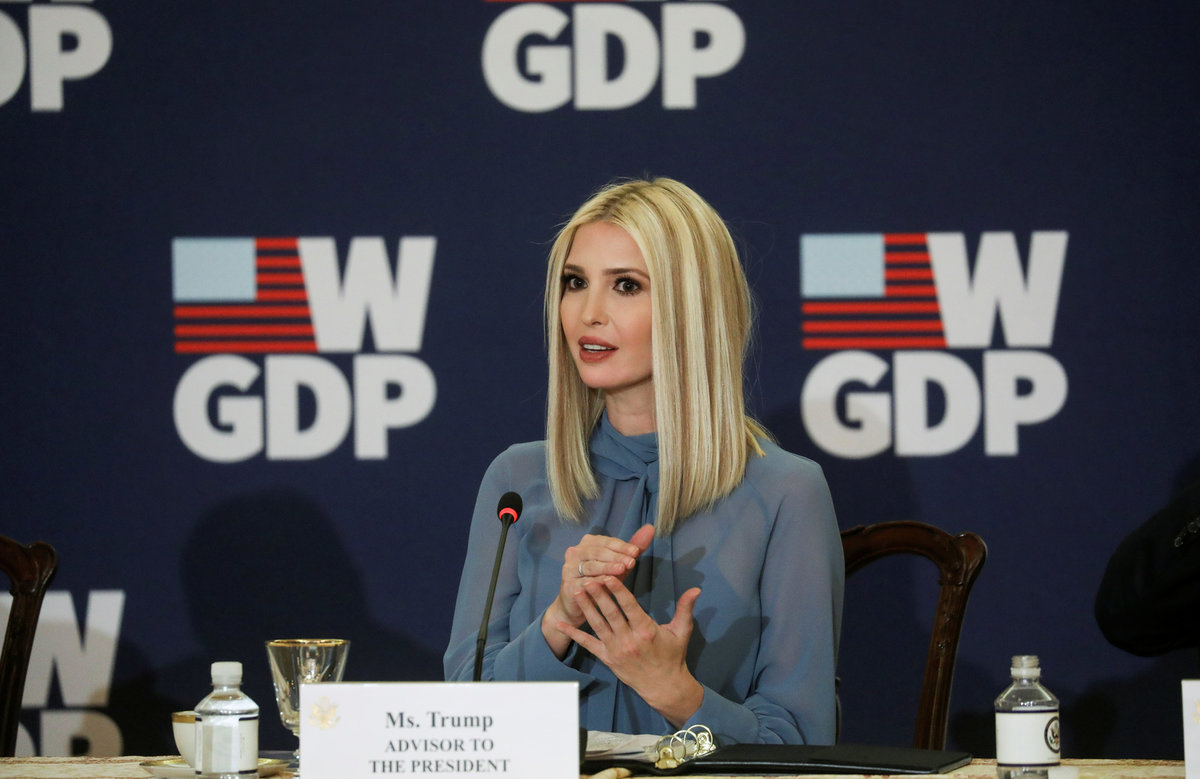 První dcea a prezidentská poradkyně Ivanka Trumpová.