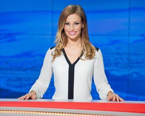 Jako moderátorka Televizních novin.