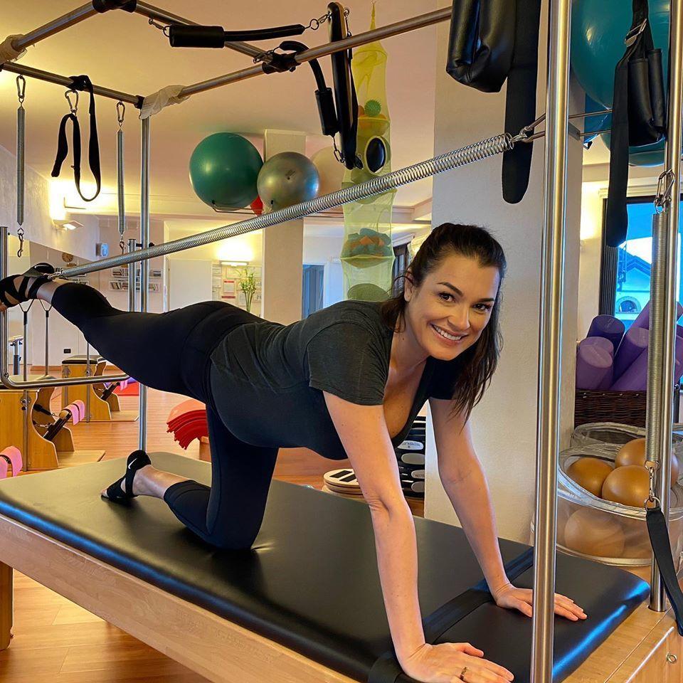 Alena Šeredová i v těhotenství cvičí