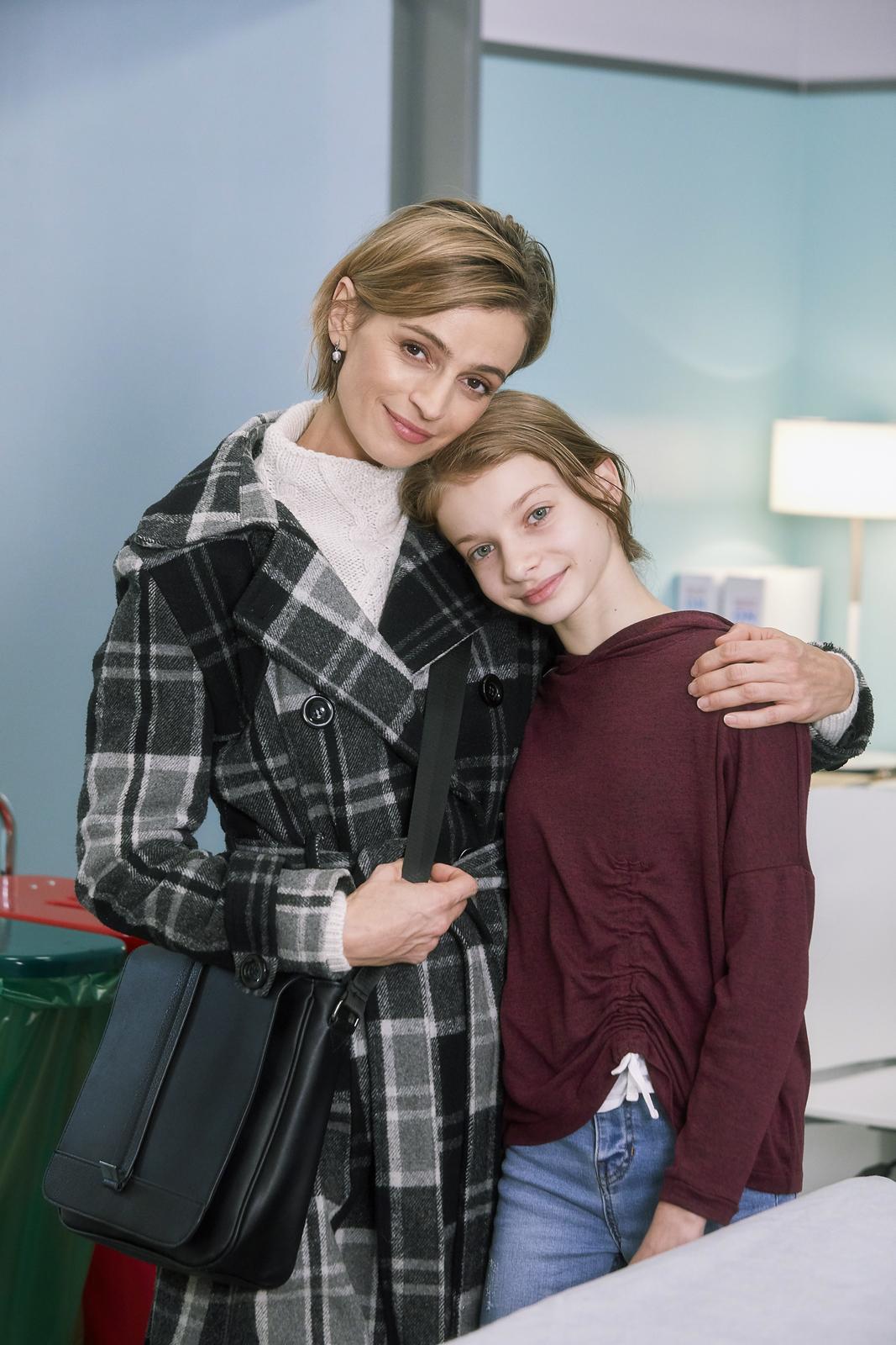 Ivana Jirešová se svou seriálovou dcerou.