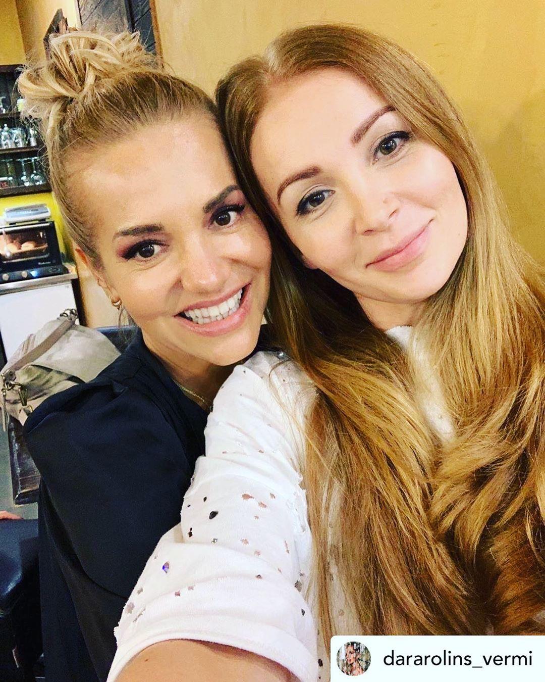 Dara Rolins s kamarádkou a fotografkou Petrou Ficovou.