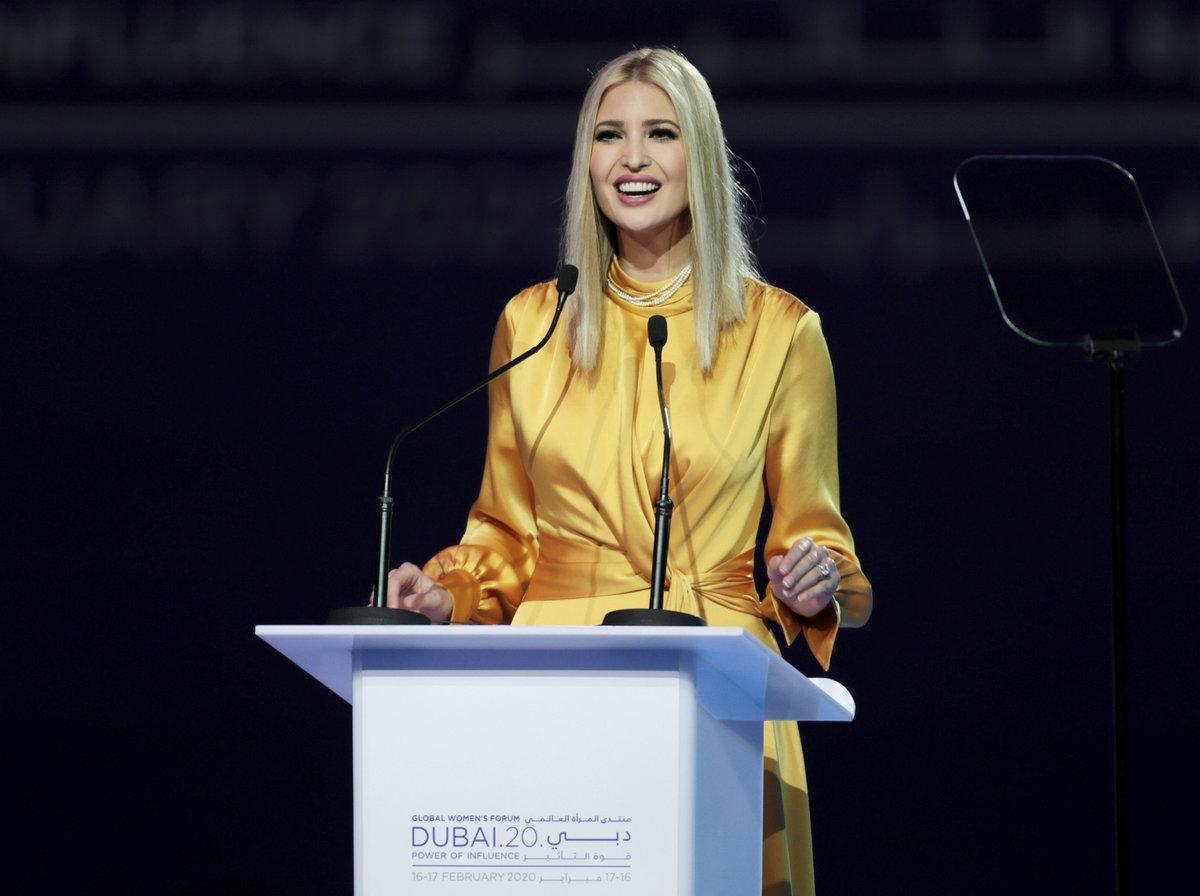 Dcera prezidenta USA Ivanka Trumpová.