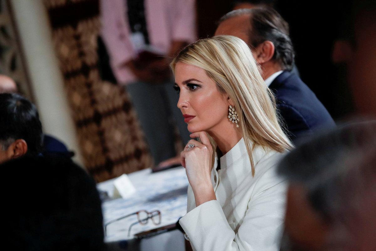 Poradkyně Bílého domu Ivanka Trumpová během státní návštěvy Indie (24.-25.2.2020).