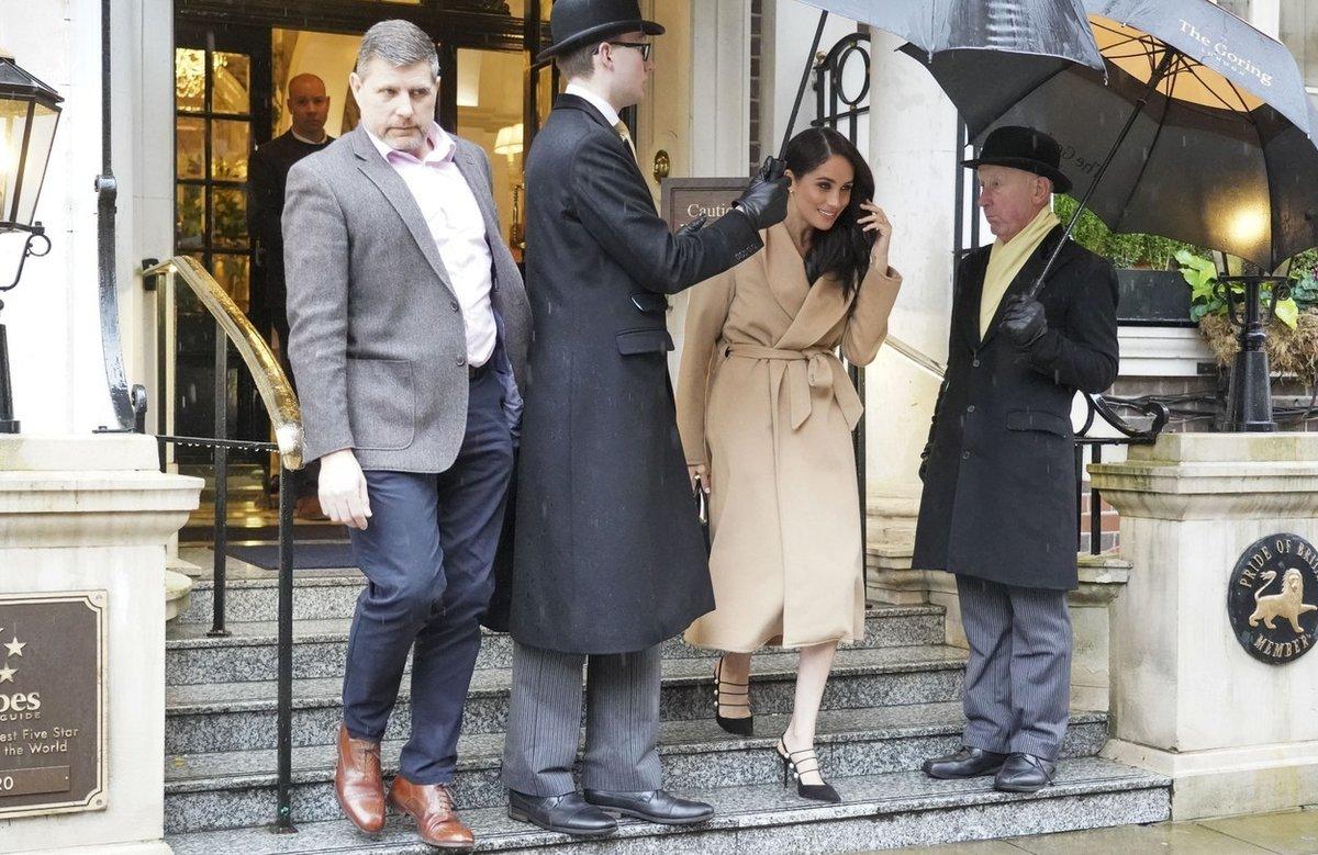 Meghan Markleová se tento týden ubytovala v hotelu The Goring