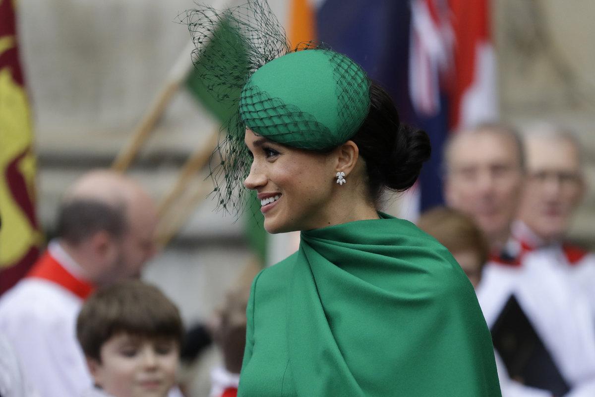 Meghan Markleová (38) v zelené róbě zářila.