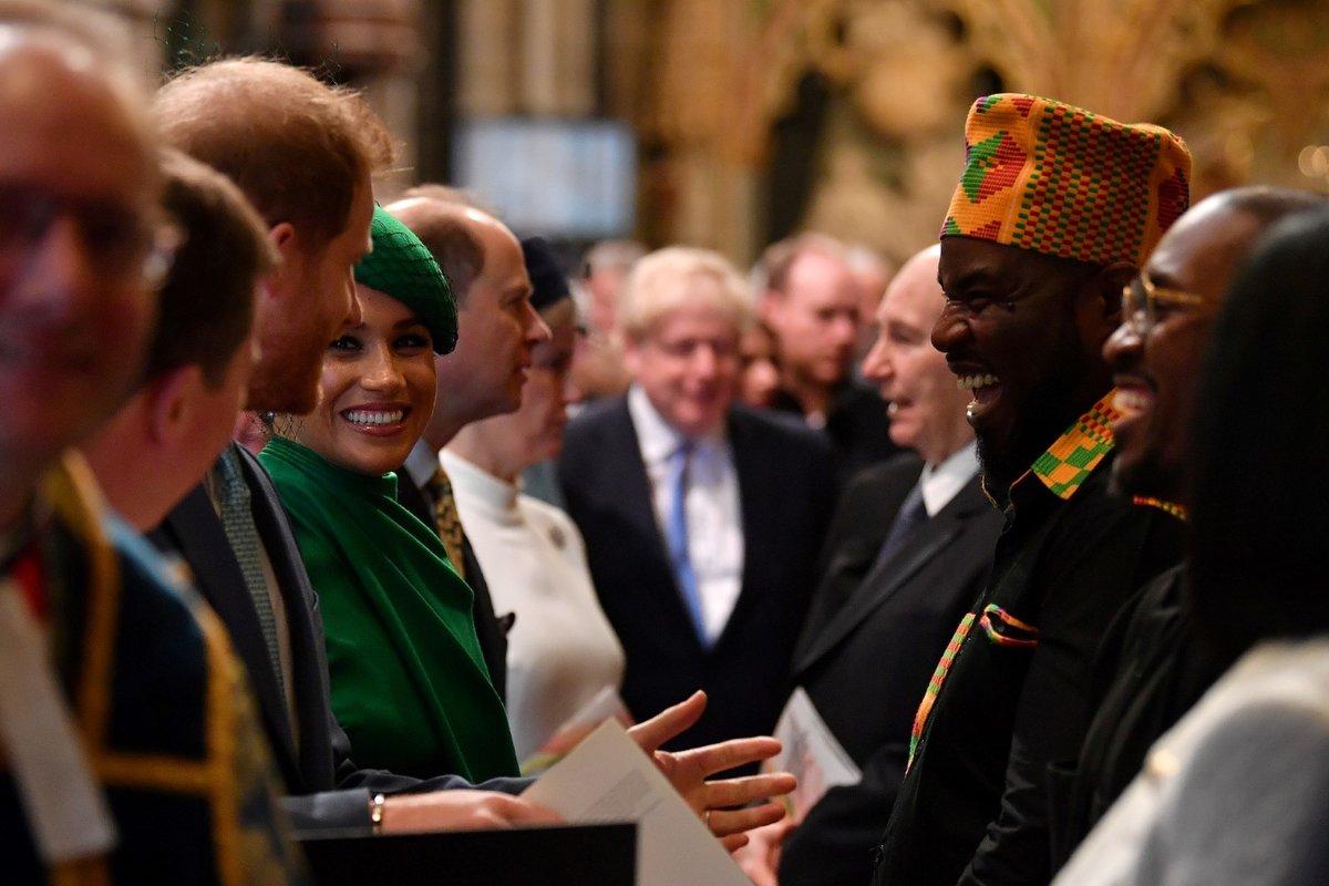 Kate Middleton, princ William, Meghan Markle a princ Harry na oslavách Dnu Commonwealthu