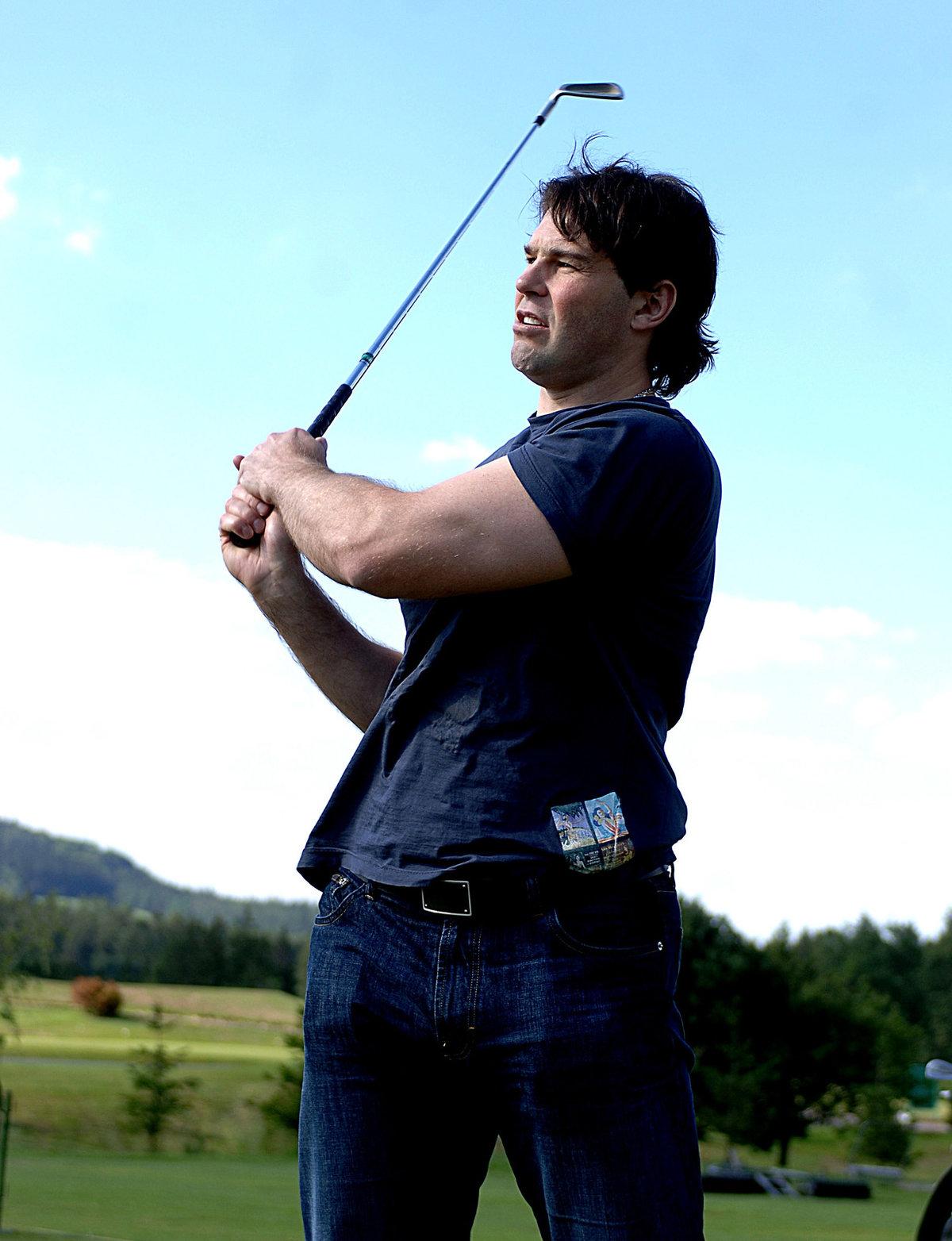 2007. Jaromír Jágr tentokrát jako golfista.