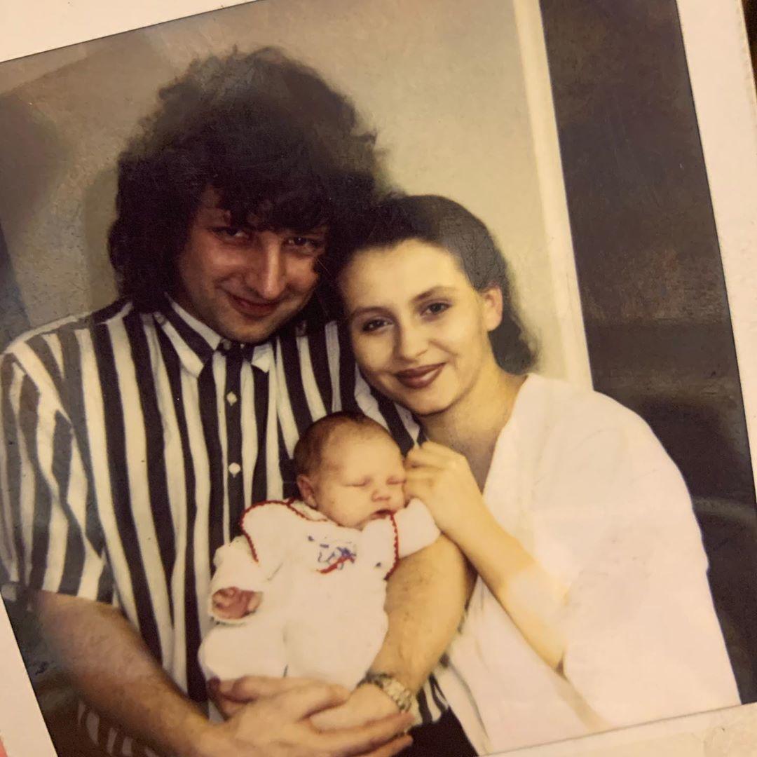 Dana Morávková s manželem Petrem Maláskem a synem Petrem, když byl miminko