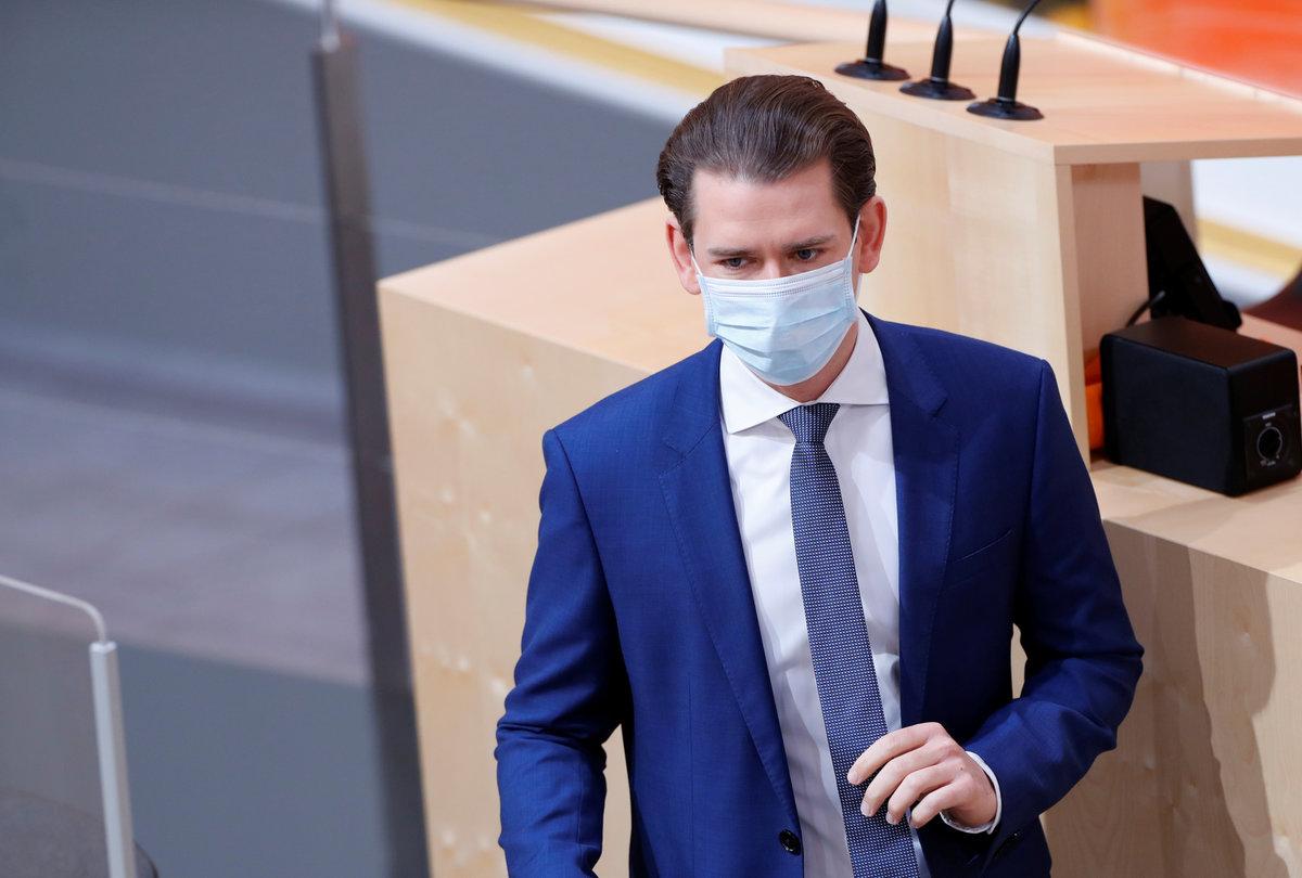 Rakouský kancléř Kurz zvažuje uvolnění restrikcí, (6.04.2020).