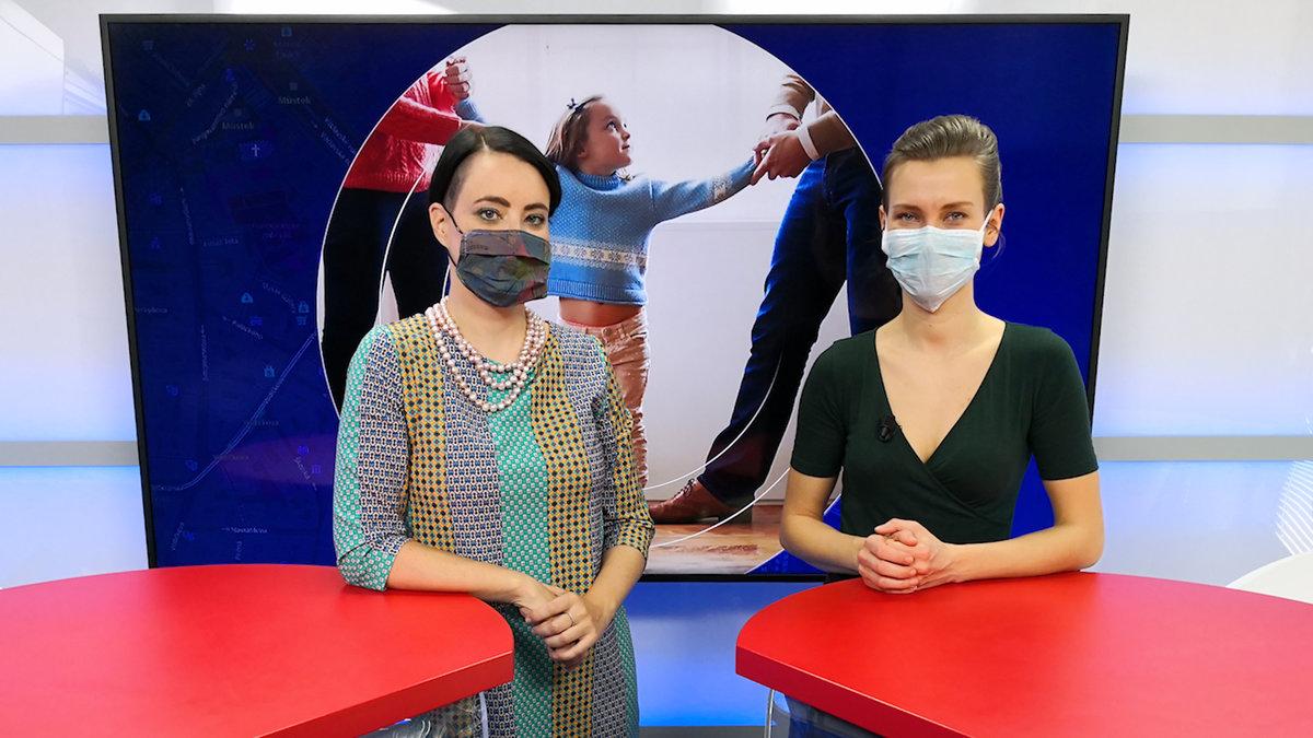 Afv okátka Lucie Hrdá byla hostem pořadu Epicentrum vysílaného dne 6.4.2020. Vpravo moderátorka Markéta Volfová.