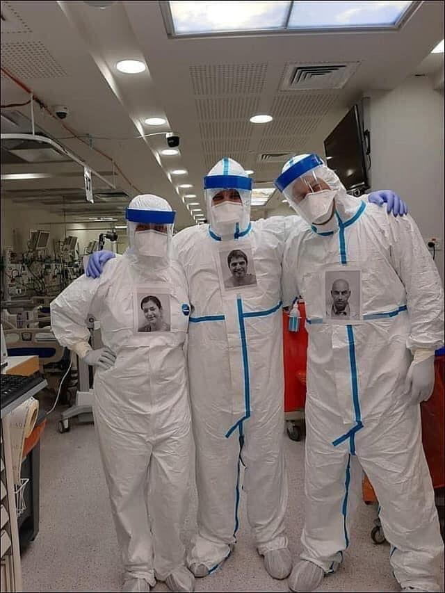 Jsme lidé, ne monstra ve skafandrech, ukazují izraelští lékaři
