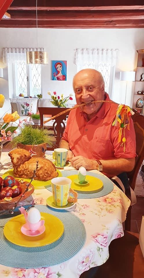 Lucie Gelemová a Felix Slováček slaví Velikonoce spolu.