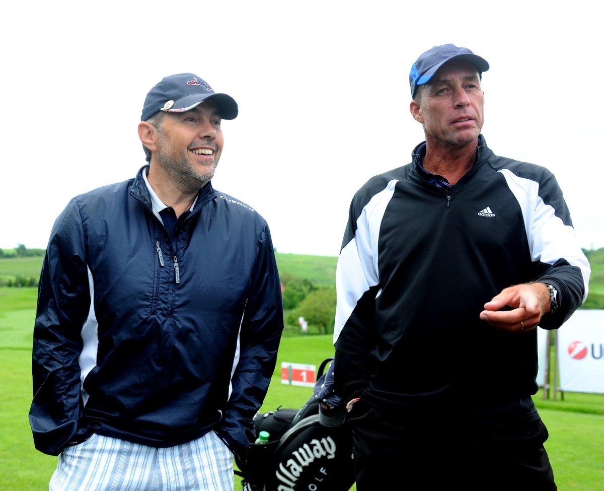 Marek Eben a Ivan Lendl na charitativním golfovém turnaji v roce 2010