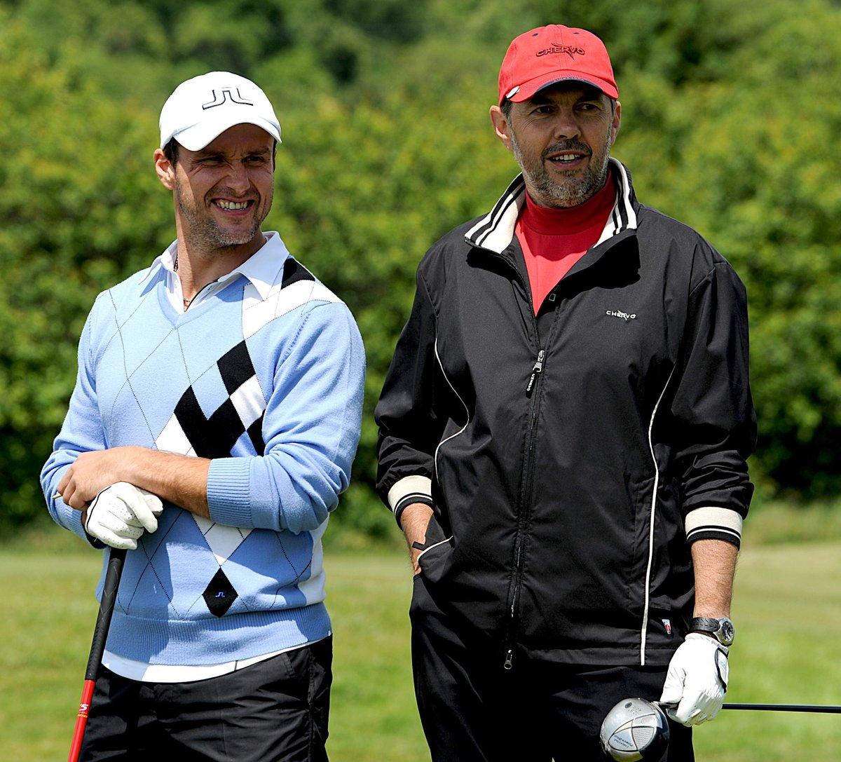 Martin Straka a Marek Eben na golfovém turnaji hokejových osobností a celebrit v roce 2009