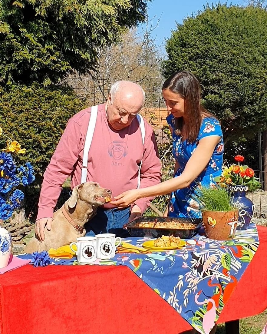 Felix Slováček a Lucie Gelemová oslavili na chatě Velikonoce