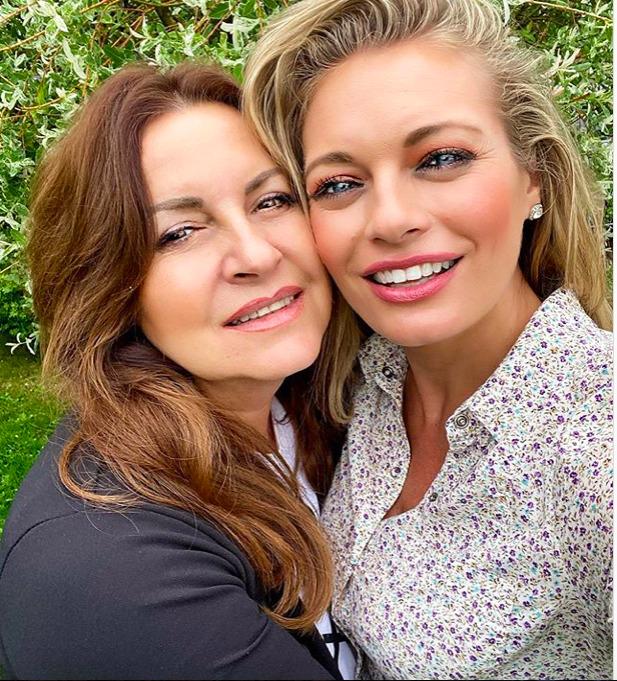 Lucie Borhyová s maminkou