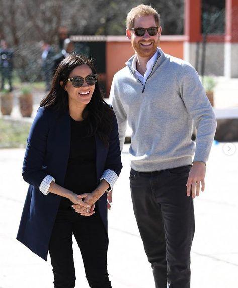 Meghan s manželem.