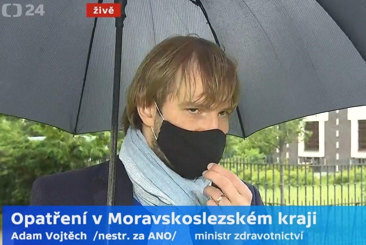 Uvolňování v Česku: Adam Vojtěch (za ANO) oznámil, že nebude platit v plné míře pro Karvinsko (24.5.2020)