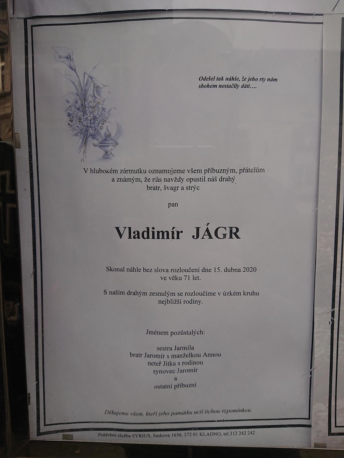 Statkář Vladimír Jágr byl strýcem hokejové legendy