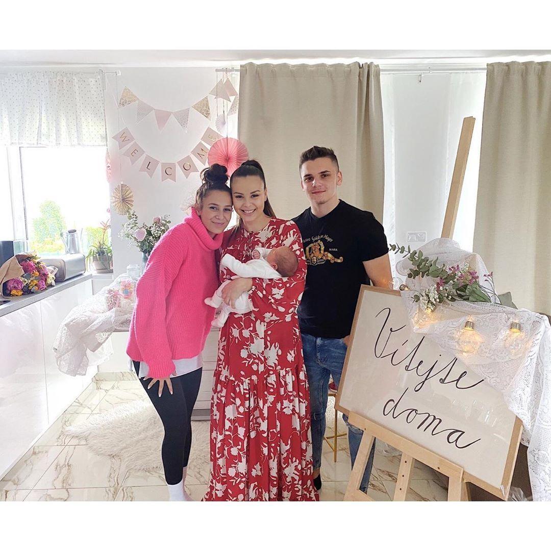 Sestra Moniky Bagárové Natálka přichystala krásné uvítání.