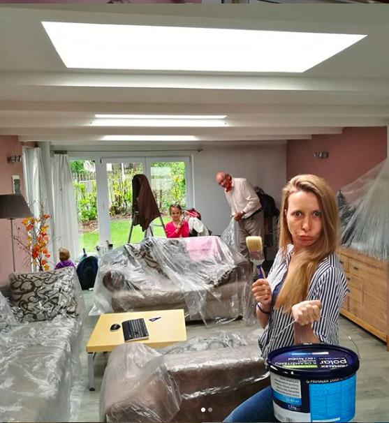 Kvůli natáčení doma musela předělat část bydlení.