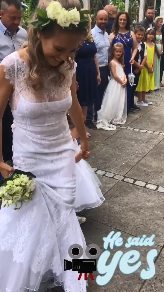 Lucie Vondráčková zazářila ve svatebním