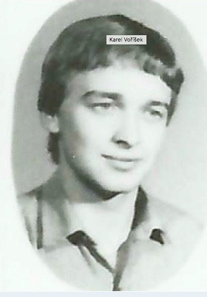 Maturant Karel Voříšek