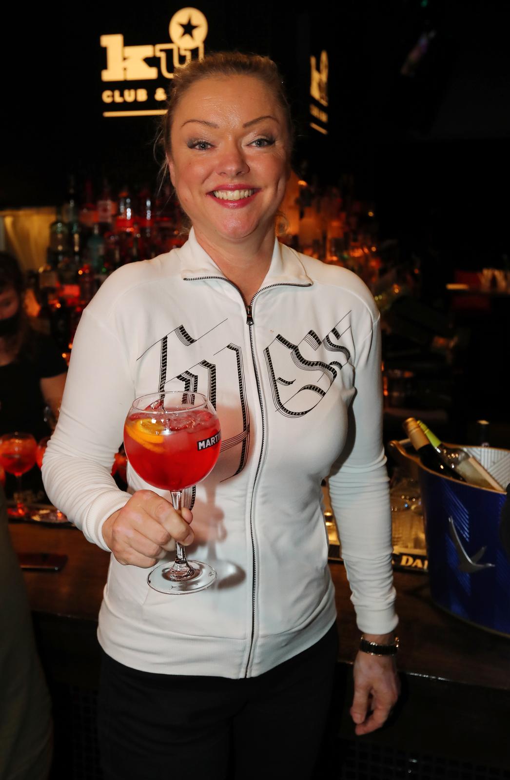 Dominika Gottová na narozeninách K.U. baru