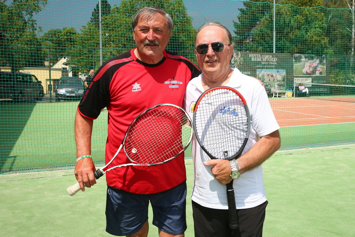 Petr Janda a Antonín Panenka na VIP tenis cupu